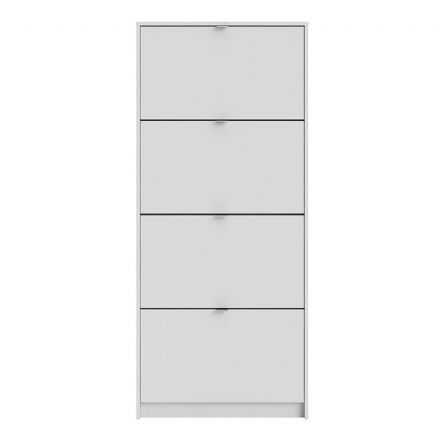 Shoes Shoe cabinet w. 4 tilting doors and 1 layer in White